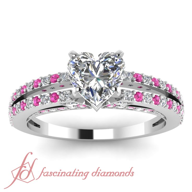 engagement wedding bands flower pink rings dress heart crop collections peony center
