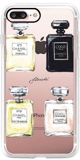 Casetify iPhone 7 Plus Case and other Marche iPhone Covers - Chanel Parfum Marche by  MARCHÈ fashion illustrator | Casetify