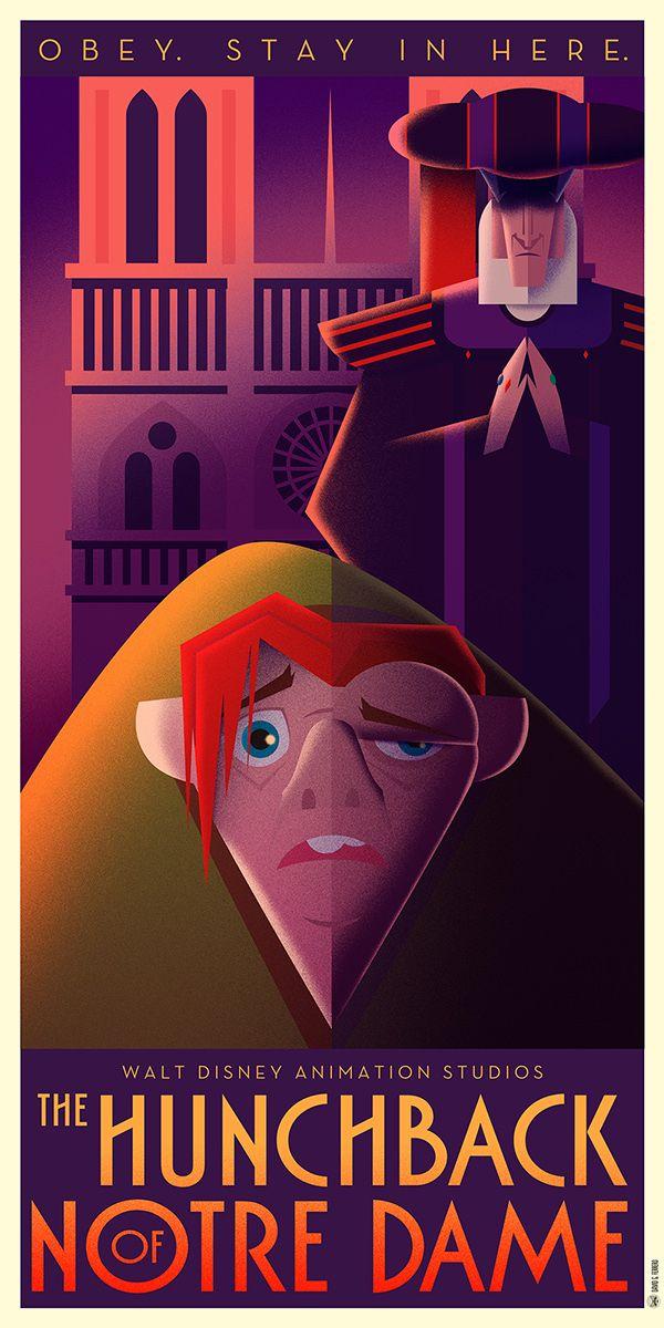Disney Art Déco series I on Behance