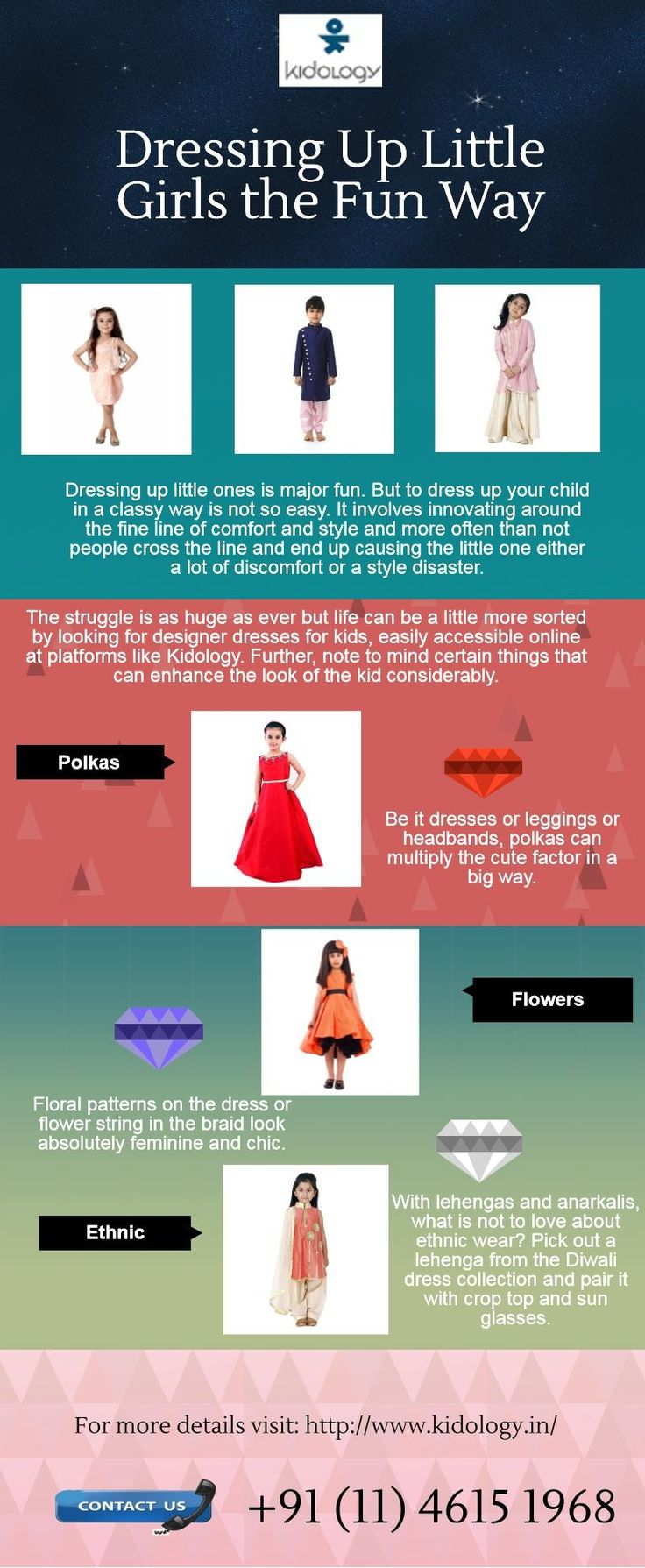 The struggle is as huge as ever but life can be a little more sorted by looking for designer dresses for kids, easily accessible online at platforms like Kidology. Pick out a lehenga from the Diwali dress collection and pair it with crop top and sun glasses.