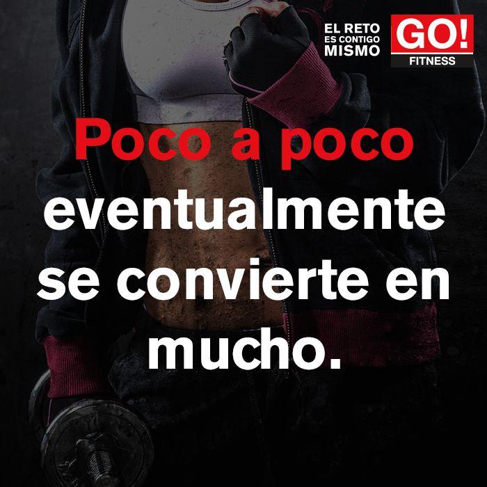 Poco a poco... #gofitness #clasesgo #ejercicio #gym #fit #fuerza #flexibilidad #reto #motivate