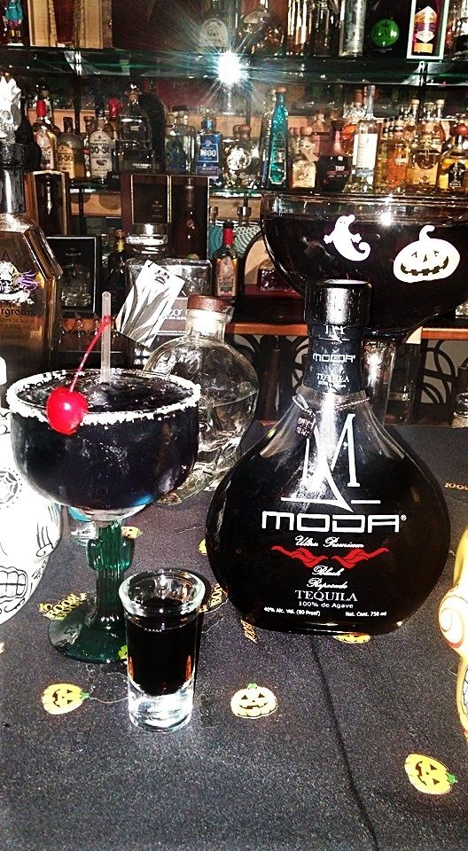 Black Widow Margarita with MODA Tequila Black Reposado