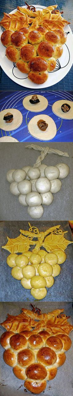Racimo relleno de frutos secos