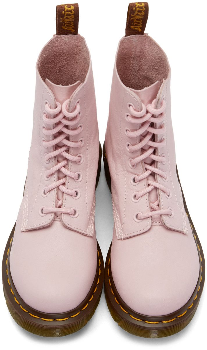 Dr. Martens Pink Eight-Eye Pascal Boots