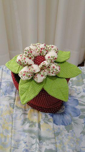 vaso de flor em tecido ?????????