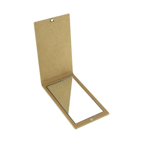 COD.EC016 Espejo Ecológico, en cartón reciclado. Incluye práctico sistema de cierre imantado.