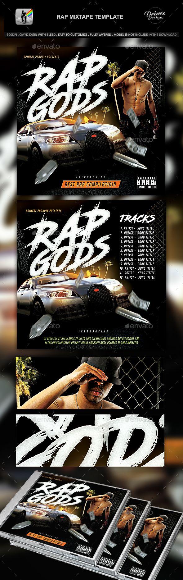 Rap Mixtape Template - #CD & DVD Artwork Print Templates Download here:  https://graphicriver.net/item/rap-mixtape-template/20181710?ref=alena994
