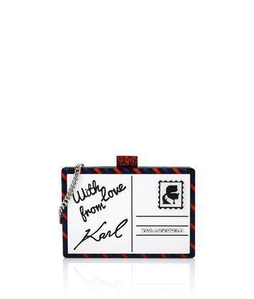 Stai cercando Minaudière Postcard KARL LAGERFELD per Donna? Acquista direttamente sullo store ufficiale online. Consegne veloci e pagamenti sicuri.