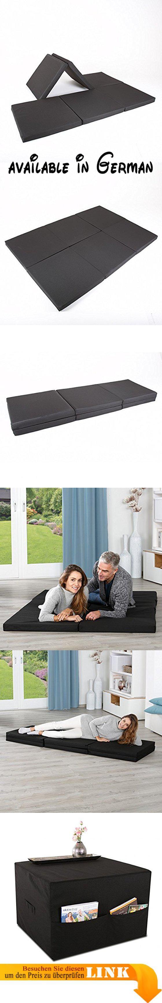 B06X9NYTY1 Doppelgästematratze 3in1 Klappmatratze Gästematratze Faltmatratze Gästebett Bequeme Schlafgelegenheit für Ihre Gäste Als