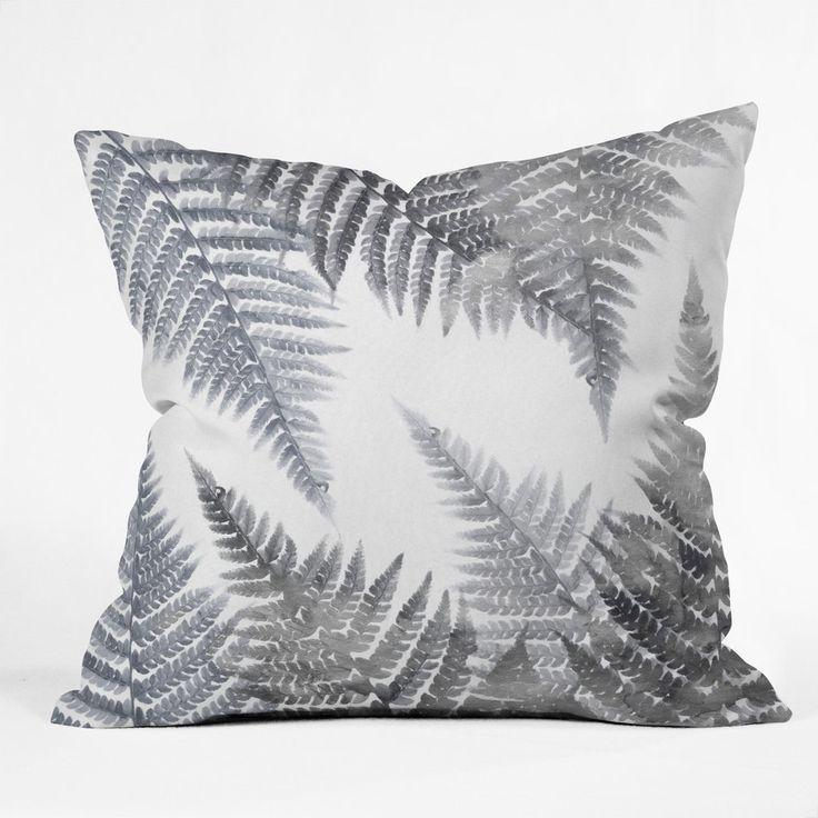 Emanuela Carratoni Watercolor Ferns Throw Pillow | DENY Designs Home Accessories