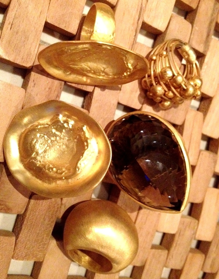Jangi rings in variety of gold finishes