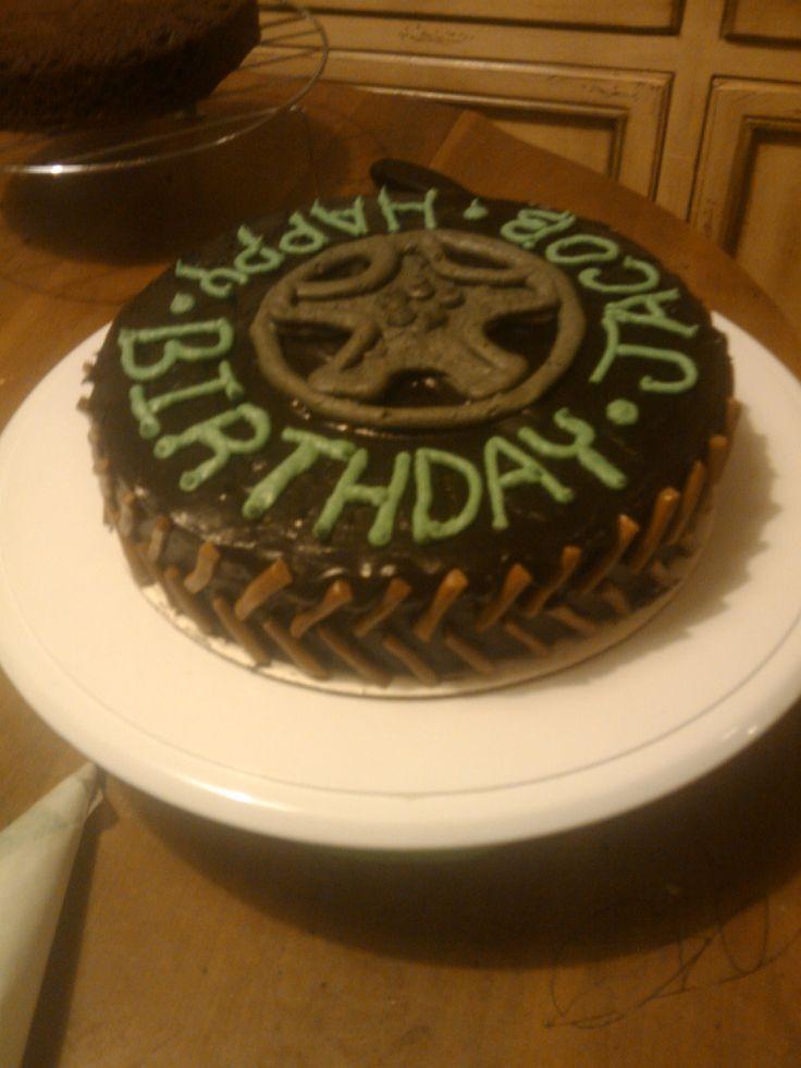 monster truck tire smash cake