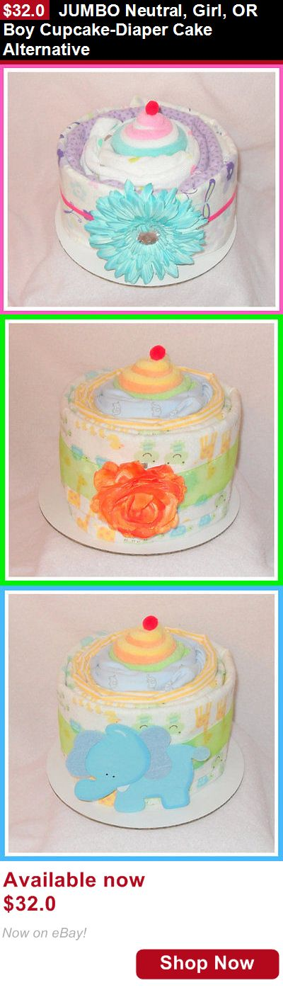 Baby Diaper Cakes: Jumbo Neutral, Girl, Or Boy Cupcake-Diaper Cake Alternative BUY IT NOW ONLY: $32.0