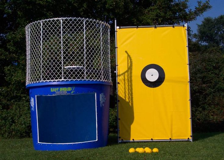 This party favorite will have you either soaking wet or laughing hysterically! Our 550 gallon carnival style Dunk Tank is great for hot summer days, company picnics, or any outdoor event. The dunk tank is a great excuse to get back at the boss, get even with friends, and is a successful fundraiser! NJ, NY, PA Party Perfect Rentals 1-888-RIDES-80 732-303-8211