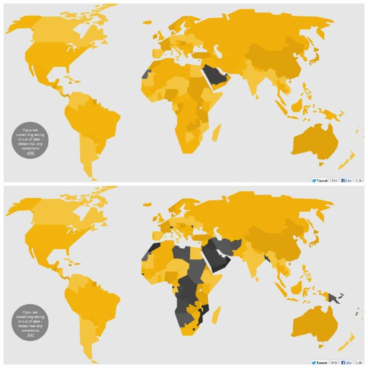 Women's political rights around the world, in one map. For more stories and interesting stats visit us at Beckyfund.org