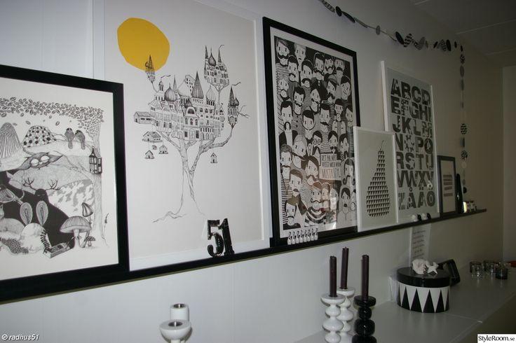 tavlor,tavellist,svartvitt,gult,dekoration,vardagsrum