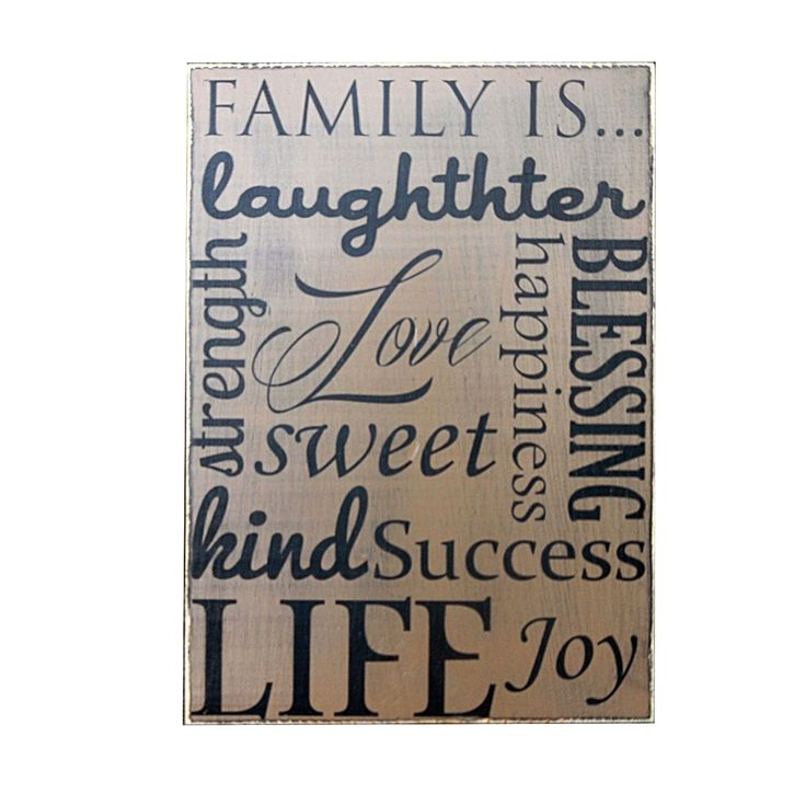 Family Is Laughter Home Decor Sign Wood Wall Art 11x16