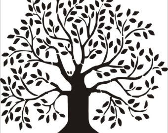 Trees On Etsy A Global Handmade And Vintage Marketplace Tree Drawing Tree Of Life Painting Tree Stencil
