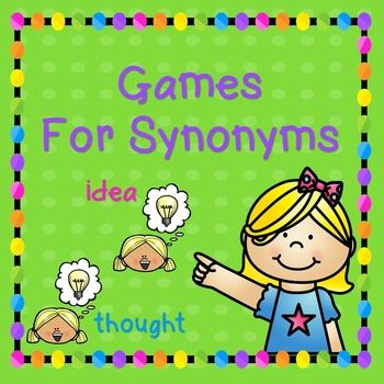 Synonyms are a critical skill in building vocabulary even in the youngest of kids.  With these synonym cards kids can play games like Go Fish and Memory by matching the pairs. In the case of Go Fish, students can have 8 cards each and the rest remain in a pile.