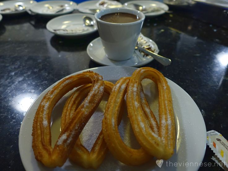 Churros con chocolate in Madrid, Spain http://bit.ly/19b9IYJ