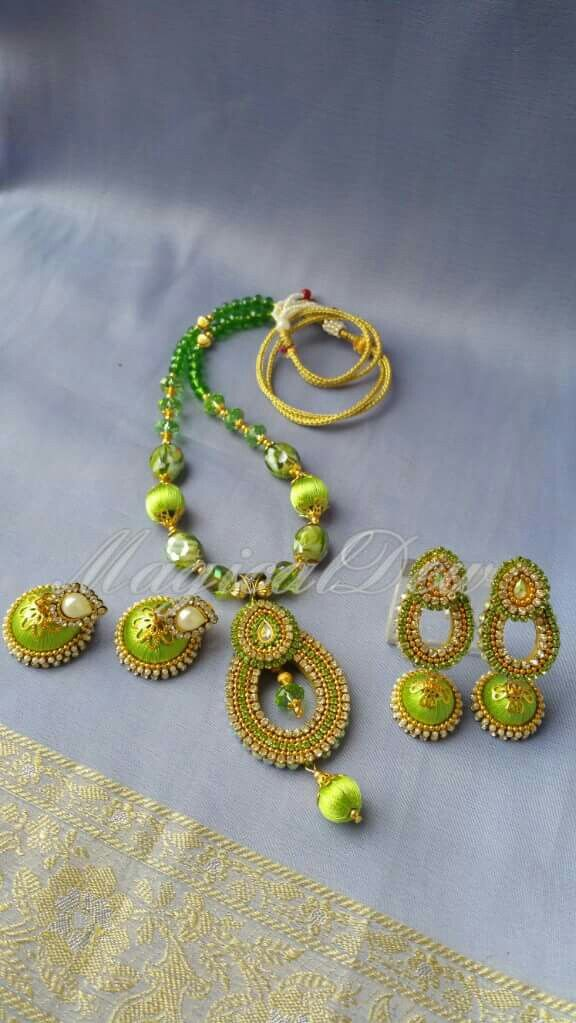 78 images about indian silk thread jewellery on pinterest