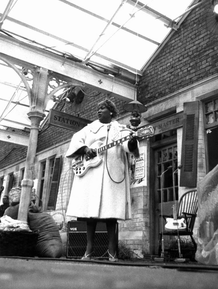 'Blues and Gospel Train' - Sister Rosetta Tharpe - 1964 VARIOUS - 1960'S An innovative musical performed on a real railroad track with the audience one side of the tracks and the musicians on the station side. Also performing are Sonny Terry and Brownie McGee :'Rocking and a whooping''Talking harmonica blues''I'm a roaming rambler'.. Cousin Joe sings 'Hot dog' and 'I'm a railroad porter'.. Muddy Waters performs 'Blow wind blow' and 'You can't lose what you never had'..'Sister Rosetta Tharpe…