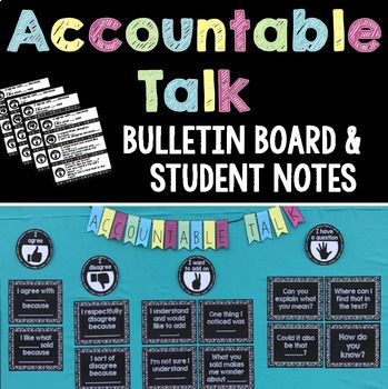 This complete set of Accountable Talk posters, desk plates, and notebook inserts, including simple hand signals, is everything you and your students will need to refer to for meaningful and engaging discussions! It also aligns perfectly with Speaking and Listening CCSS and other