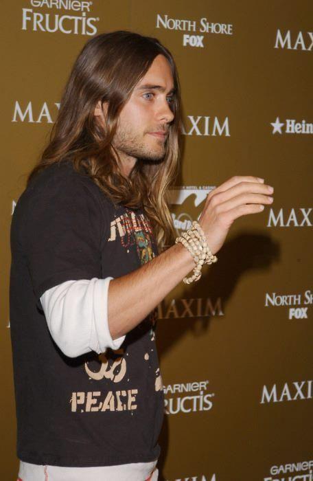 Jared Leto - long hair, layered tees
