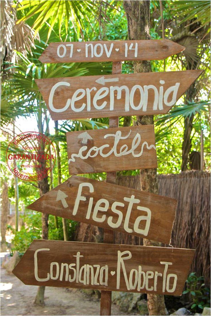 Letreros rusticos  #Rustic #Wedding #RivieraMaya #Mexico #LoveMemories #CreandoMomentosMemorables.