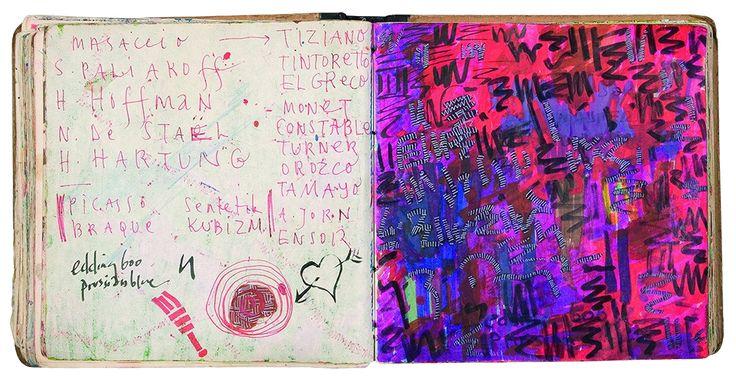 Yiğit Yazıcı art Sketch Book 1990-1992