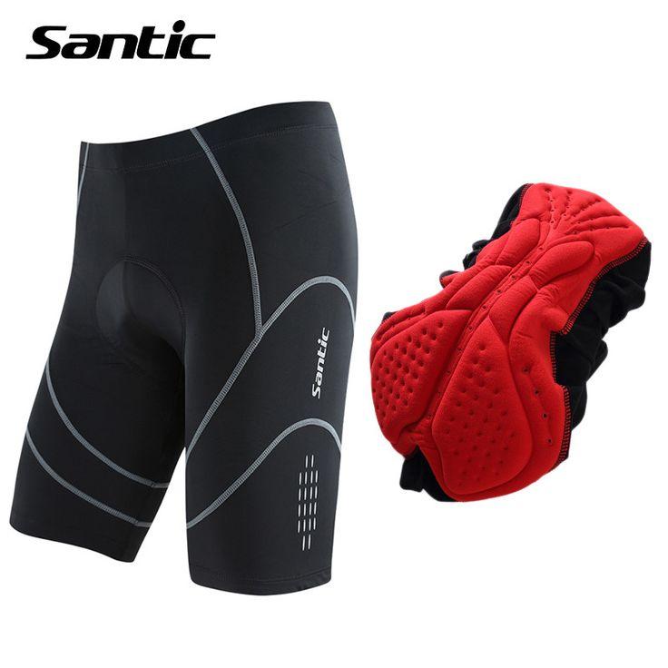 Santic Mens Cycling Shorts Summer Quick-dry MTB Downhill Shorts Mountain Road Bike Bicycle Shorts Bermuda Ciclismo