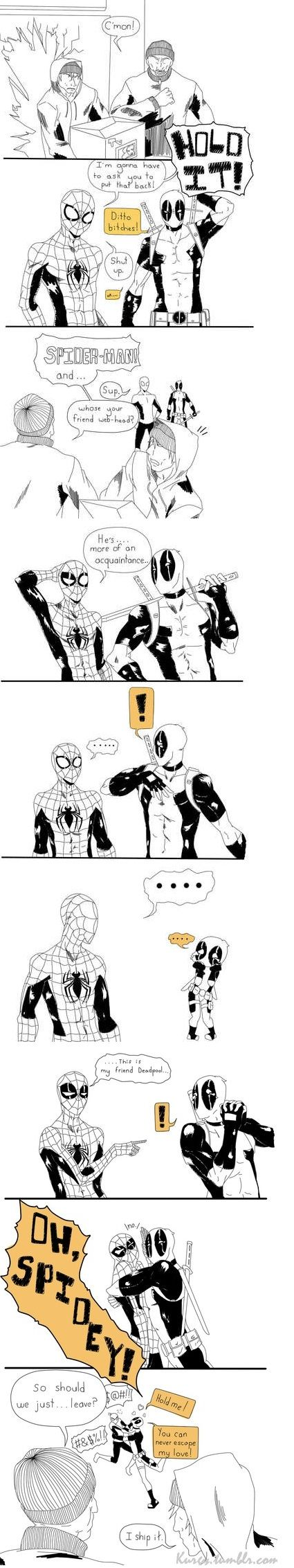 Spideypool<<<<<<<<<<<<ONE OF THE BURGLERS SHIP IT
