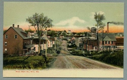 Milo Maine West Main Street 1907 Unused, Undivided Back ...