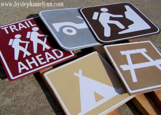 camping party signs