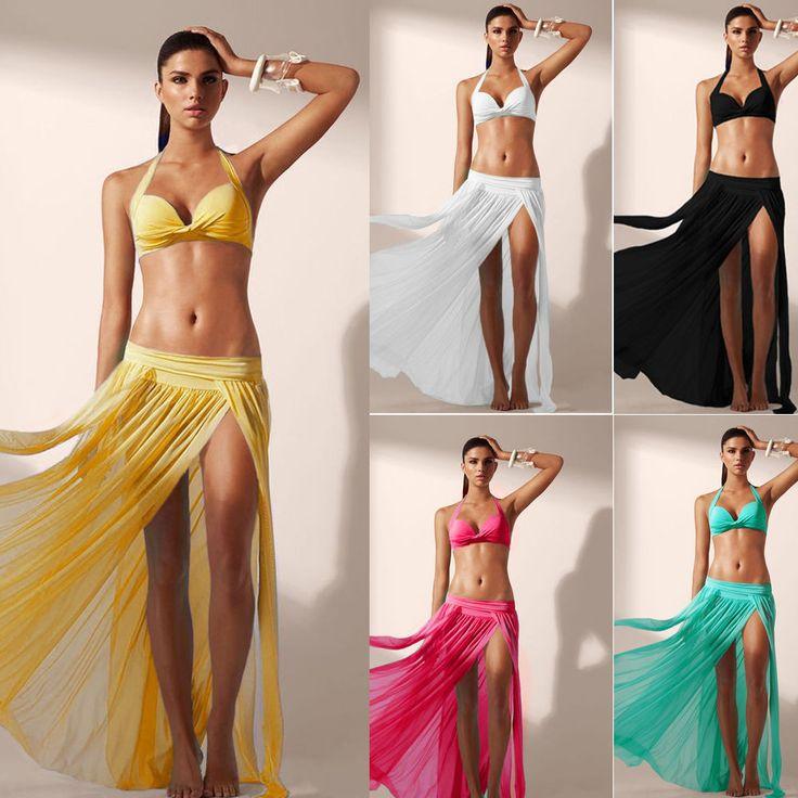 Summer Transparent Sexy Women Bikini Cover Up Dress Split Bikini Cover Up Beachwear European And American Style maillot de bain
