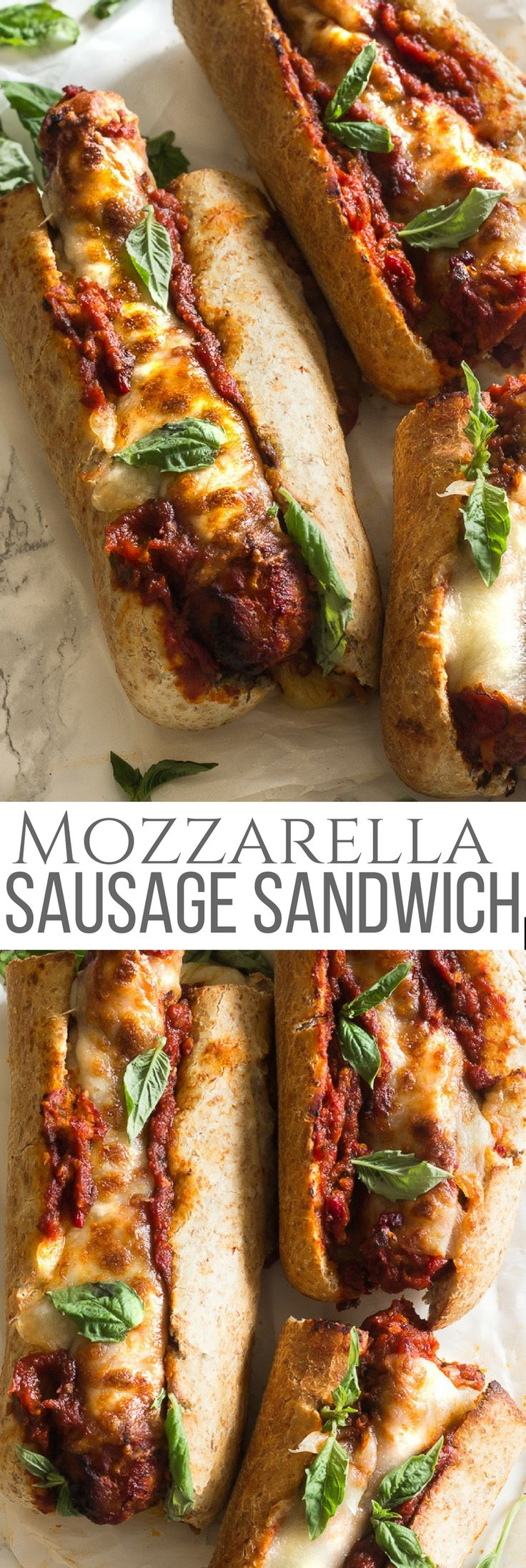 If you love chicken or meatball Parmesan subs then you'll love this time saving recipe! Mozzarella Italian sausage sandwich. No need to make meatballs or season the meat for this since the sausages come already seasoned. #ad #TeeterTreats #TeeterRecipes