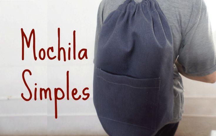 """Veja no vídeo acima o passo a passo da mochila simples, também conhecida por """"mochila saco""""."""