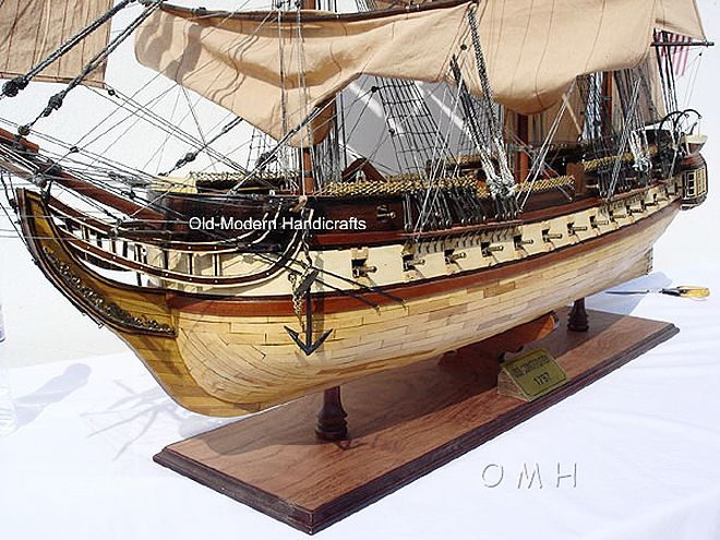 """CaptJimsCargo - XL USS Constitution Wooden Tall Ship Model 59"""" Old Ironsides,  (http://www.captjimscargo.com/model-tall-ships/warships/xl-uss-constitution-wooden-tall-ship-model-59-old-ironsides/) Huge Hotel Lobby Size! Display case is also available."""