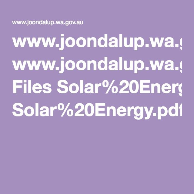 www.joondalup.wa.gov.au Files Solar%20Energy.pdf