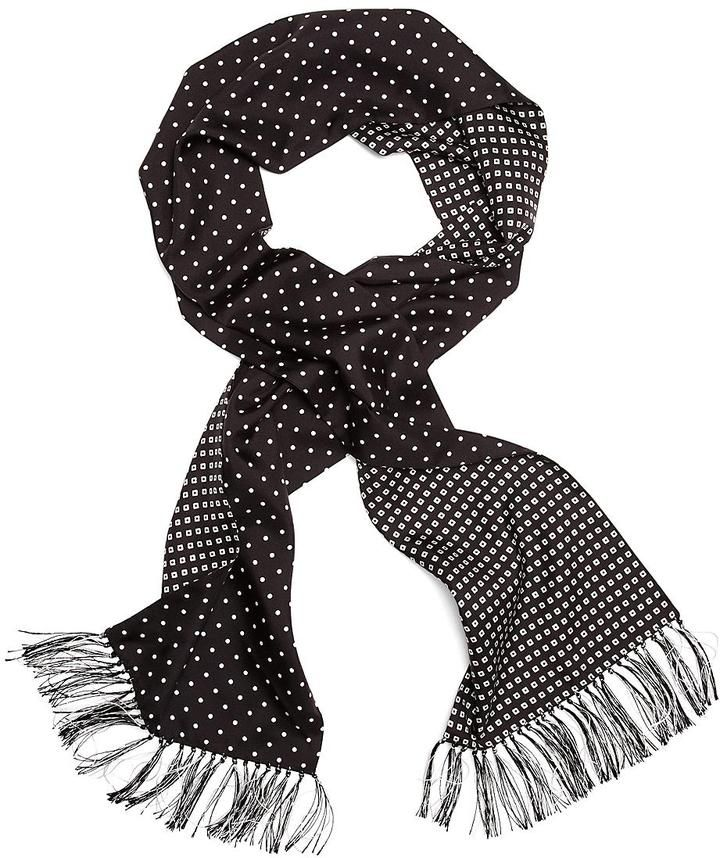 $248, Silk Polka Dot Formal Scarf by Brooks Brothers. Sold by Brooks Brothers. Click for more info: http://lookastic.com/men/shop_items/6105/redirect