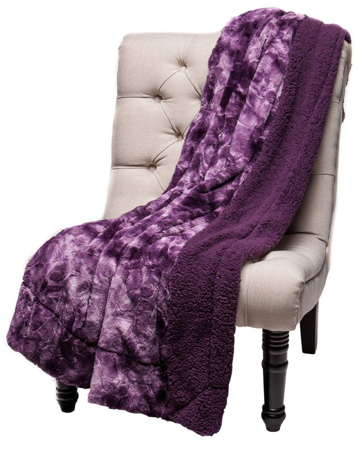 Chanasya Super Soft Fuzzy Fur Warm Aubergine Dark Purple Sherpa Throw Blanket... - Chanasya, a Purchase Corner LLC