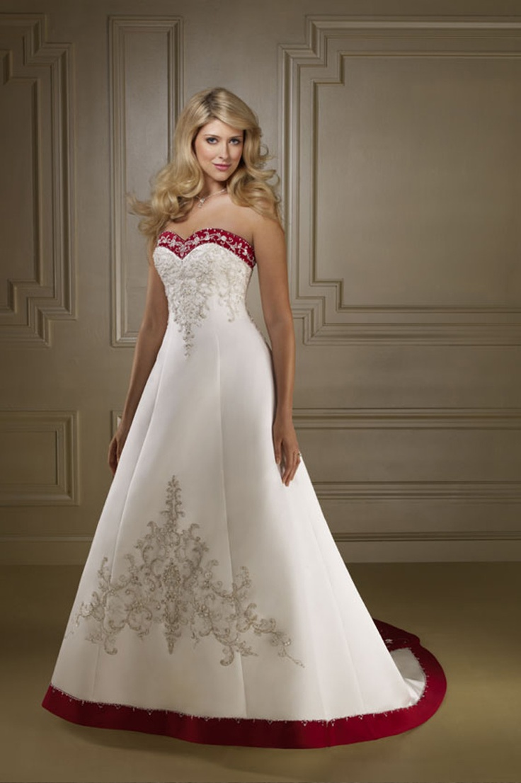 The 52 best WEDDING DRESS WHITE AND BACK RED images on Pinterest ...
