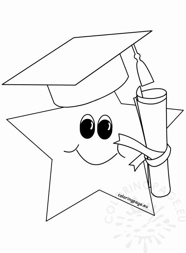 24 Graduation Cap Coloring Page In 2020 Kindergarten Coloring