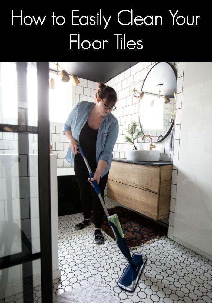 The Best Tile Floor Cleaner We Ve Used For Our White Bathroom Tiles Cleaning Tile Floors Tile Floor Cleaning Hacks