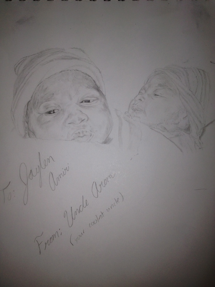 My nephew- Jaylen done entirely with pencil
