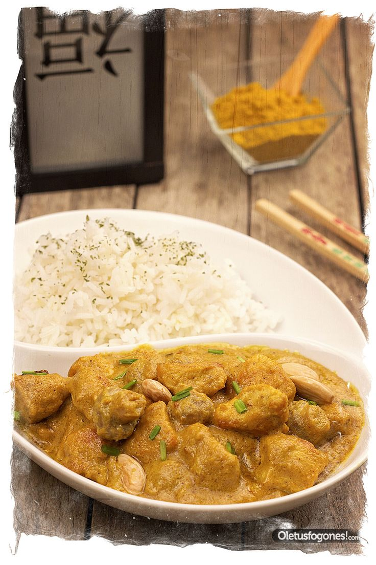 Pollo al curry con arroz - Cocina china [Tradicional]