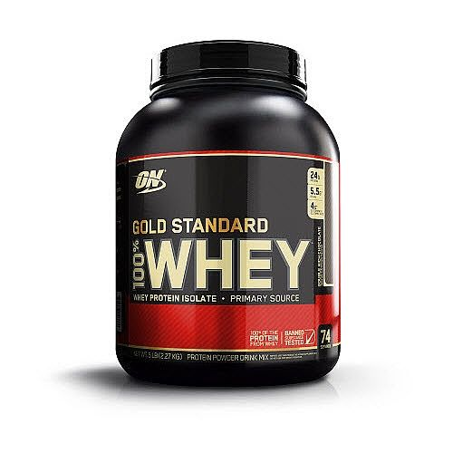 <b>THE BIGGER PICTURE OF WHEY</b><br>Whey Protein Isolates are 90% pure protein by weight. They are the purest and most expensive form of whey protein that exists. That's why they are the first ingredients you read on the 100% Whey Gold Standard&#153 label. By using Whey Protein Isolates as our primary protein source, we're able to pack 24 grams of the purest, muscle-building protein per serving, and a lot less of the fat, cholesterol, lactose, and other stuff that you can do without…