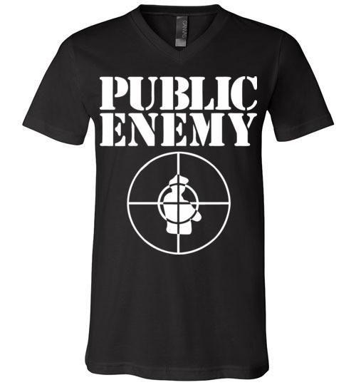 Public Enemy, Chuck D, Flavor Flav,Terminator X, Classic Hip Hop v2 , Canvas Unisex V-Neck T-Shirt