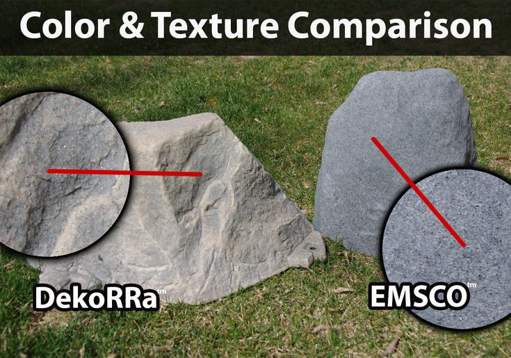 how to make artificial rocks for landscaping