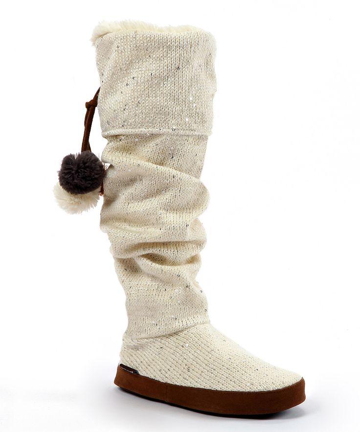 Muk Luks - Ivory Winona Sequin Slipper Boots. CalzadoMi EstiloZapatosZapatillas  ...